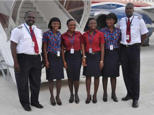 Crew line-up at Uyo apron